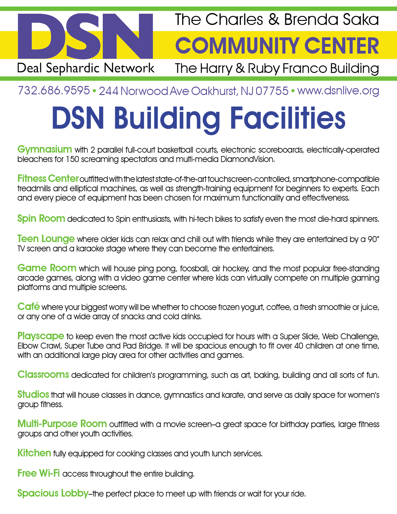 DSN Building Facilities