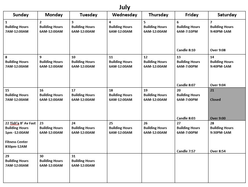 July2018hours